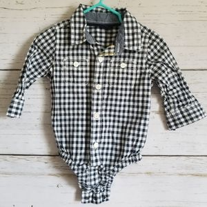 Baby Gap Plaid Button Down Shirt 6-12m